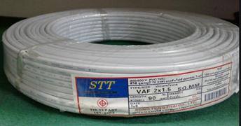 สายไฟ VAF (สีขาว) สายคู่ STT